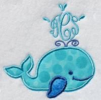 Whale Frame Pack Embroidery Design | Apex Embroidery Designs, Monogram Fonts & Alphabets