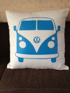 Love this... VW Inspired Campervan Single Large Cushion-Personalised