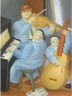 Trois musiciens  By Fernando Botero
