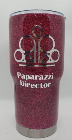 glitter tumbler w/business logo. Name and contact info on the opposite side. Fun way to promote your business. Promote Your Business, Business Logo, Drink Sleeves, Event Planning, Tumbler, How To Memorize Things, Glitter, Drinks, Law School