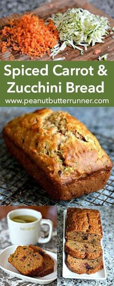 A quick bread packed with tons of cinnamon and nutmeg carrots zucchini orange zest dried cranberries walnuts and coconut oil. A great way to use summer zucchini! - Breads - Ideas of Breads Carrot Zucchini Bread, Zucchini Bread Recipes, Orange Zucchini Bread Recipe, Carrot Bread Recipe Healthy, How To Freeze Zucchini, Cranberry Zucchini Bread, Courgette Bread, Breaded Zucchini, Carrot Cake Bread