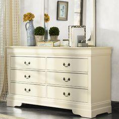 Lark Manor Corbeil 6 Drawer Dresser Finish: Beige
