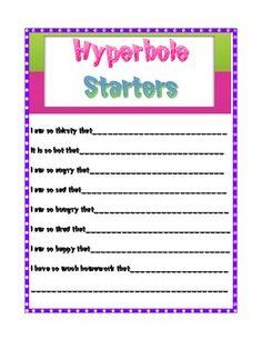 Figurative Language Sentences Starters