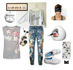 """""""For the birds..."""" by constance-mcnamara-romanowski on Polyvore featuring Keds, Personal Charm, Roberto Cavalli, Casetify, Ted Baker and Urban Outfitters"""