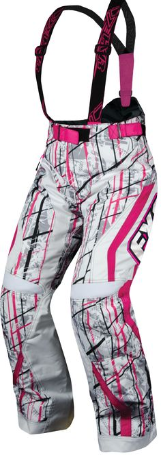 FXR Racing - Snowmobile Gear - Women's X-System Pant - Fuchsia/White Saboplaid