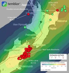 new zealand sea floor lifted images   14 November 2016 Mw=7.8 New Zealand earthquake shows an uncanny ...