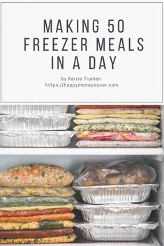 She made 50 FREEZER MEALS in ONE DAY! This is the BEST list of freezer meals for good tasting and easy to make freezer meals. meals Making 50 Freezer Meals in one Day Freezer Friendly Meals, Budget Freezer Meals, Make Ahead Freezer Meals, Dump Meals, Cooking On A Budget, Freezer Cooking, Budget Recipes, Best Meals To Freeze, Freezer Meal Recipes