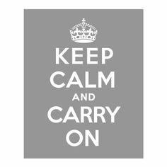 Keep Calm and Carry On Keep Calm Print Keep Calm door dizziprints, $9.95