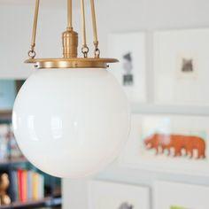 Our Hood classic globe pendant has found a happy home via Yellow Brick Home.