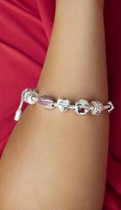 What is not to love about these Valentine's Day ready PANDORA sterling silver charms? From stone embellished stunners to sweet herats, each of them is guaranteed to put a lovely spin on her jewellery collection.