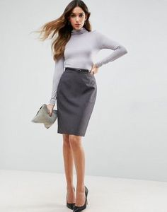 ASOS Tailored Belted Pencil Skirt