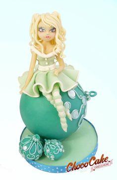 MISS NAVIDAD - by ChocoCake @ CakesDecor.com - cake decorating website
