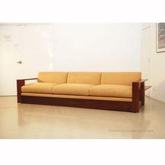 Three seater sofa in orangy look (WS 47) Details   BIC Furniture India