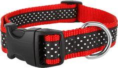 Paw Paws USA - Pembroke Polka Dot Dog Collar-Black, $22.00 (http://pawpawsusa.com/pembroke-polka-dot-dog-collar-black/)