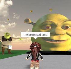 Really Funny Memes, Stupid Funny Memes, Funny Laugh, Funny Relatable Memes, Memes Humor, Shrek Memes, Roblox Funny, Roblox Memes, Shrek 2