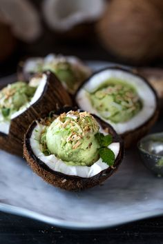 Coconut Milk and Avocado Ice Cream
