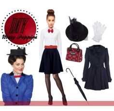 Cute marry poppins diy costume