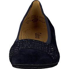 Gabor Fashion Damenschuhe 44.160.16 Damen Ballerinas Slipper Slip-On Leder (Wildleder) Blue (pazifik), EU 44.5 - http://on-line-kaufen.de/gabor/10-uk-gabor-glitz-damen-ballerinas