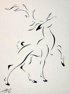 Stylized elk