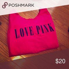 ✨swoop neck PINK sweatshirt✨ ✨Hot Pink sweatshirt✨ brand: PINK✨ comfy✨ PINK Victoria's Secret Sweaters Crew & Scoop Necks