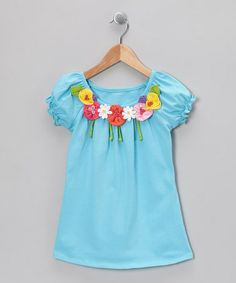 Take a look at this Pool Flower Peasant Top - Infant, Toddler & Girls by Mulberribush on #zulily today!