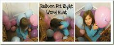Balloon Pit Sight Word Hunt