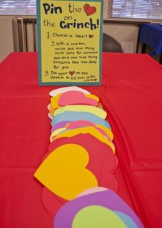 Pin the Heart on the Grinch at Rachel Moani's Library