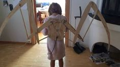 These are articulating dragon wings. Using a bicycle brake wire for the back.