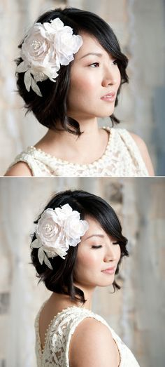 Hair fascinators are one of my top options for covering up my ears. I wonder if I could make this...