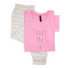 Pajama Drama Size Small Womens Sheep Jogger and Tee Pajama Set, Pink - Walmart.com