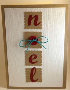 NOEL card with buttons