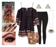 """""""Untitled #549"""" by dearlynere on Polyvore featuring Topshop, Steve Madden and New Look"""