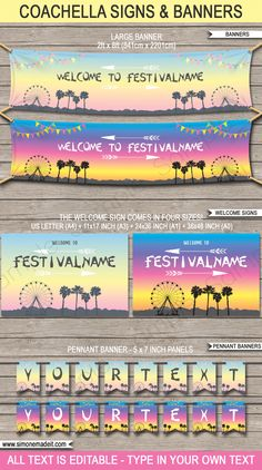 New Coachella Themed Birthday Party Printables – Shaneka McWilliams New Coachella Themed Birthday Party Printables Coachella Birthday Party Decorations Coachella Party Decorations, Coachella Party Theme, Coachella Birthday, Festival Themed Party, Diy Party Decorations, Cool Party Themes, Coachella Diy, Diy Festival, Themed Parties