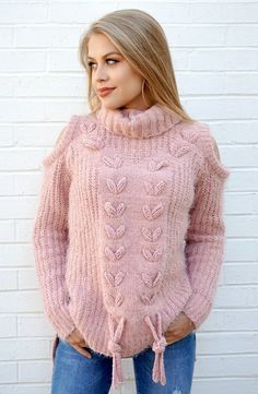 S/M / Rose Braided Detail Cold Shoulder Sweater - Madison + Mallory Trendy Fall Outfits, Simple Outfits, Rose Braid, Cool Braids, Thick Sweaters, Cold Shoulder Sweater, Mohair Sweater, Autumn Fashion Casual, Sweatshirt Dress