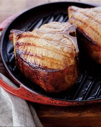 Grilled Maple-Brined Pork Chops Recipe from Food & Wine  I'm doing these tonight. Can hardly wait to try them.