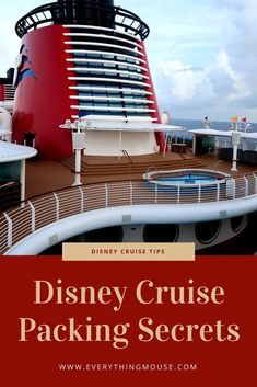 Wondering what to pack for a Disney Cruise? Here we have lots of Disney cruise packing tips!    #DisneyCruise  #Disney  #Disneycruisepacking