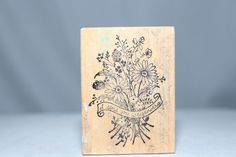 I Send You Wildflowers Vintage F-198 USA PSX Wood & Foam Backed Rubber Stamp http://autopartspuller.com/ Great Sale 50% off entire store!! Copper, Glassware, Wood Crafts, Scrap Booking