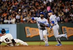 Chase Utley and Jimmy Rollins hovering around the bag   ***   Dodgers Blue Heaven: Blog Kiosk: 10/1/2015 - Dodger Links - Greinke, the Subway War and Kershaw as Manager?