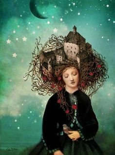 "WandaWorks invites you to join THe January Journal Project - House and Home Inspiration on the subject: ""Sleeping beautys dream"" by Catrin Welz-Stein"