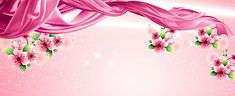 Fundo romântico, Romântico, Flores, Cor - De - Rosa, Imagem de fundo
