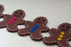 felt gingerbread men by Superduper