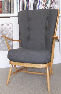 Vintage Ercol High Back Chair from House Inventory