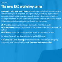 20.10.2015 The new RKC workshop series - www.robert-krause.com