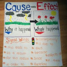 Cause effect anchor chart for text structure