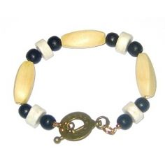 White, Black and Beige Men's Necklace by AngieShel Designs, LLC at www.angiesheldesigns.com