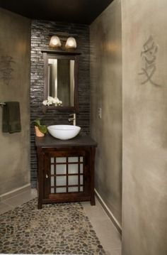 asian bathroom by Signature Woodworks