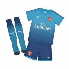 Arsenal Dětské Venkovní dres komplet 17-18 Krátký Rukáv