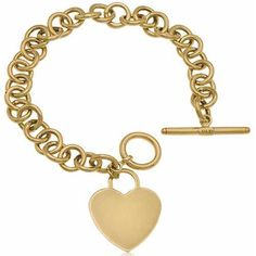 Yellow Gold Designer Bracelet Jewelry Days. $899.00. 14K Yellow Gold, 11.8 grams. Tiffany Design Bracelet. Designer Style Charm Bracelet. With Toggle Lock. 7.5 inches in length. Save 25%!