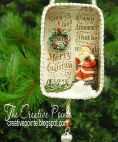 I hope you saw yesterday's POST as I gave the directions to make your own altered tin ornaments. I also gave all the embellishment deta...
