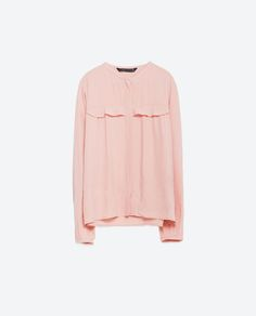 Image 8 of BLOUSE WITH FRILL DETAIL from Zara